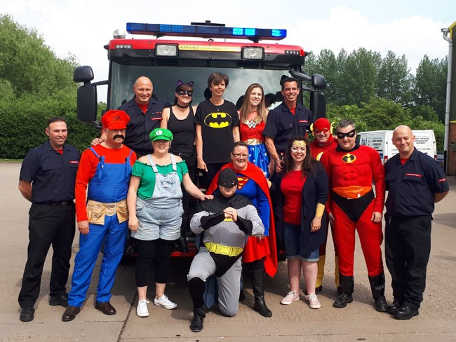 Superheroes for The Fire Fighters Charity