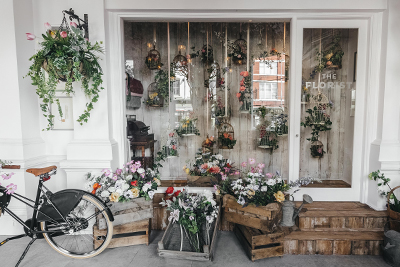 Shop front of  The Florist