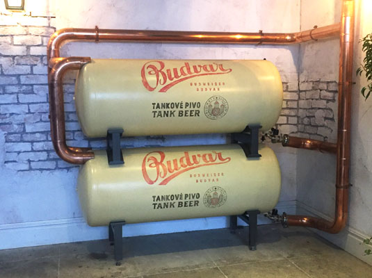 The Botanist Coventry beer tanks