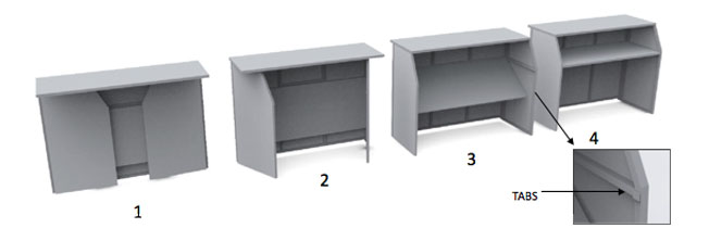 Folding bar unit set-up